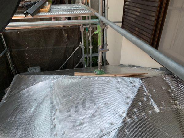 リフォーム施工中屋根葺き替え工事【110】横浜市港北区
