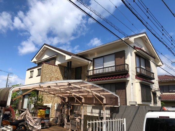 施工後屋根葺き替え工事、外壁塗装工事【126】横浜市緑区M様