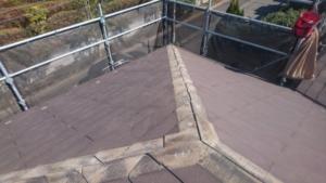 リフォーム施工中屋根重ね葺き、外壁塗装、雨樋交換【128】