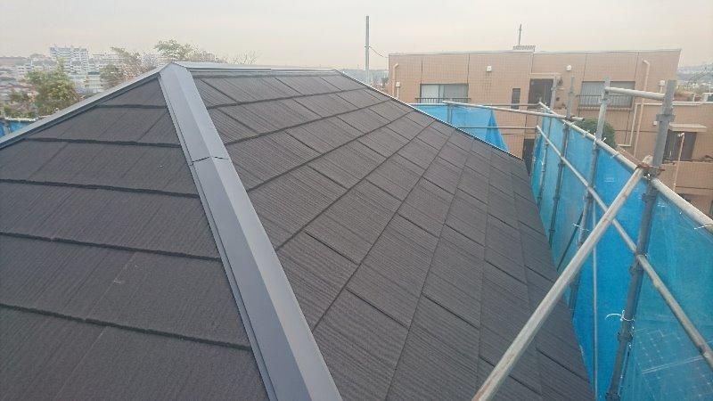 施工後屋根重ね葺き工事、外壁塗装【123】横浜市青葉区Y様
