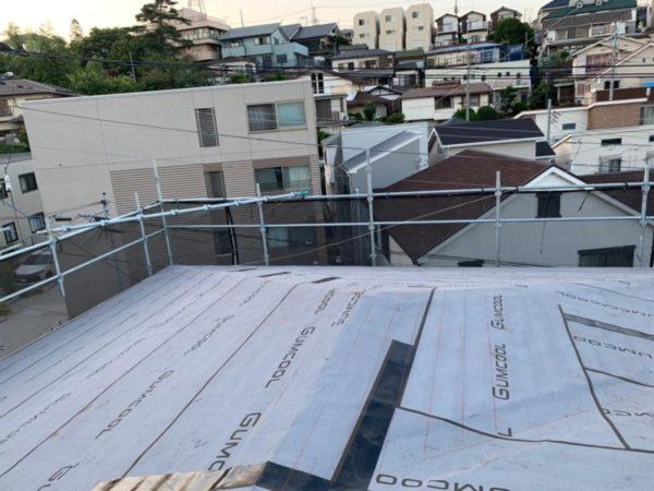リフォーム施工中屋根重ね葺き【151】横浜市鶴見区K様