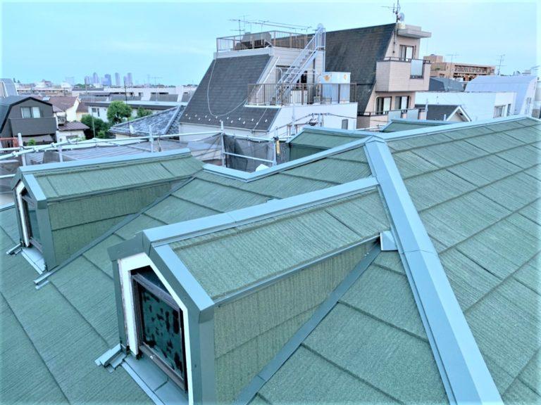 施工後屋根重ね葺き工事、外壁その他【118】東京都世田谷区B様