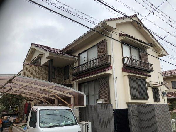 施工前屋根葺き替え工事、外壁塗装工事【126】横浜市緑区M様