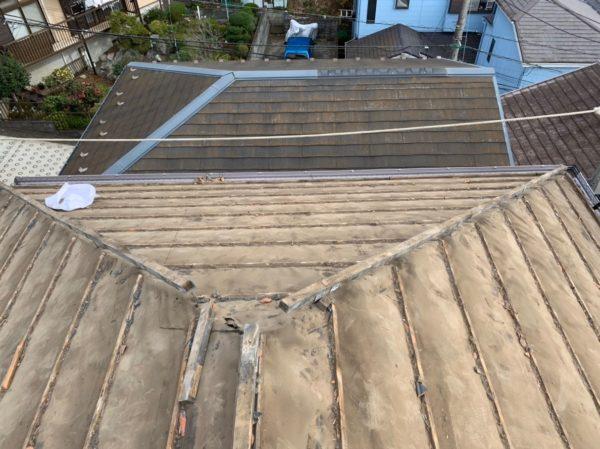 リフォーム施工中屋根葺き替え、雨樋交換【133】横浜市都筑区Y様