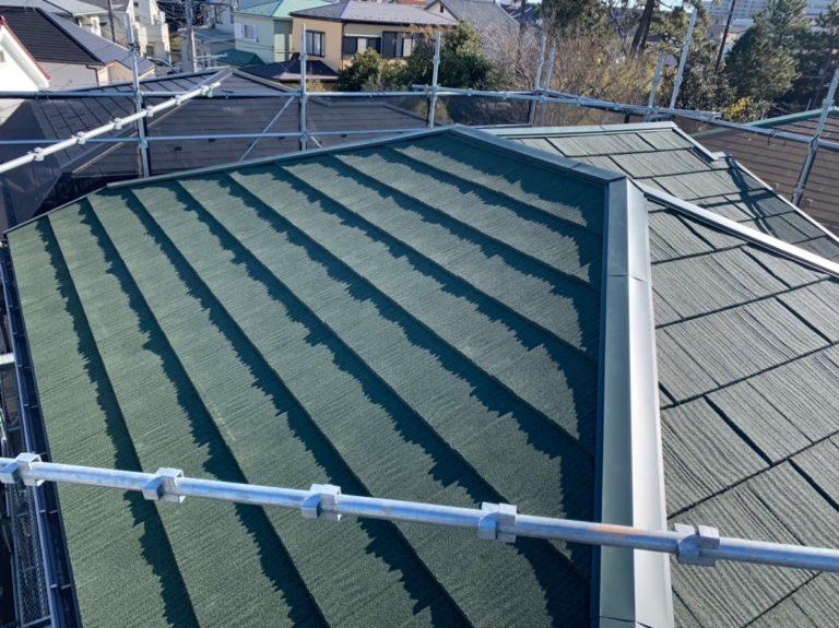 施工後屋根重ね葺き、外壁塗装【130】藤沢市T様