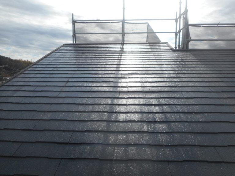 施工後屋根塗装工事、棟板金工事