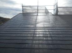 屋根塗装工事、棟板金工事