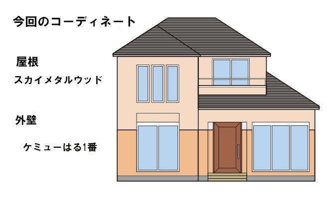 イラスト屋根重ね葺き工事、サイディング工事【158】東京都渋谷区N様