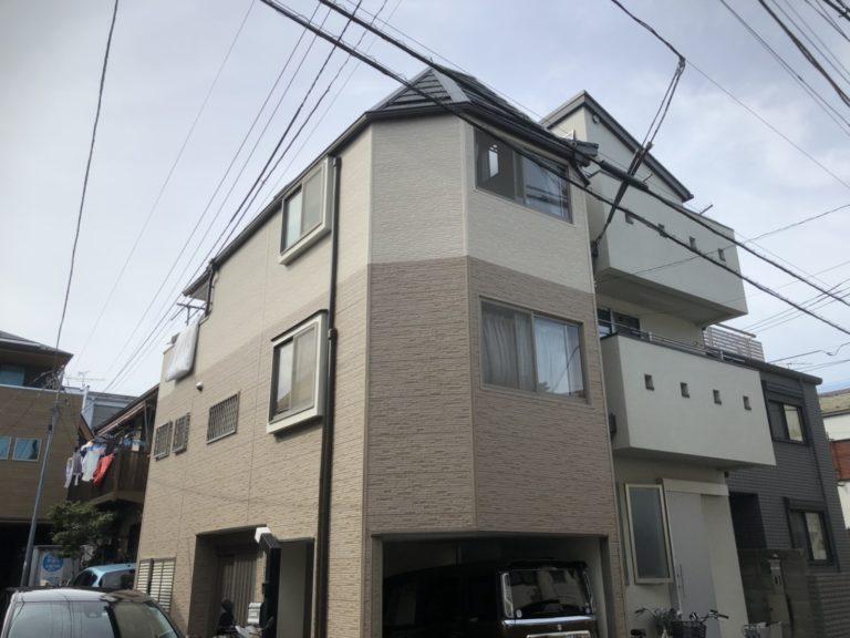 施工後屋根重ね葺き工事、サイディング工事【158】東京都渋谷区N様