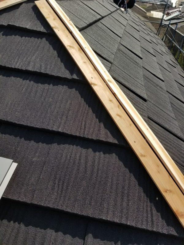 リフォーム施工中屋根重ね葺き、外壁塗装、雨樋交換、内装工事【160】横浜市港北区S様