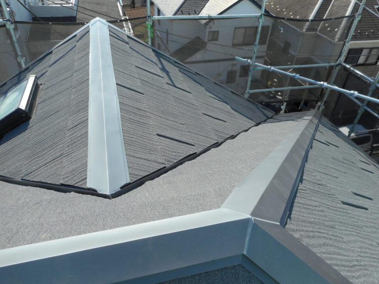 施工後屋根重ね葺き、外壁塗装、雨樋交換、破風板金取付【161】横浜市青葉区N様