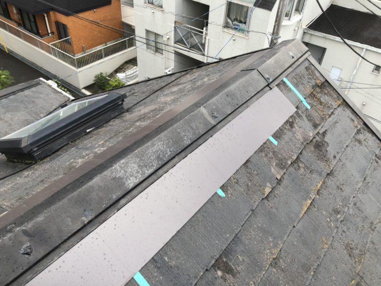 施工前屋根重ね葺き、外壁塗装、雨樋交換、破風板金取付【161】横浜市青葉区N様