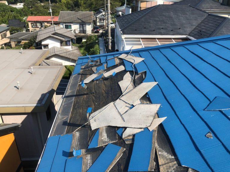 施工前屋根重ね葺き工事【169】横浜市港南区S様