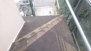リフォーム施工中屋根重ね葺き工事、塗装工事、雨樋工事【162】横浜市都筑区N様