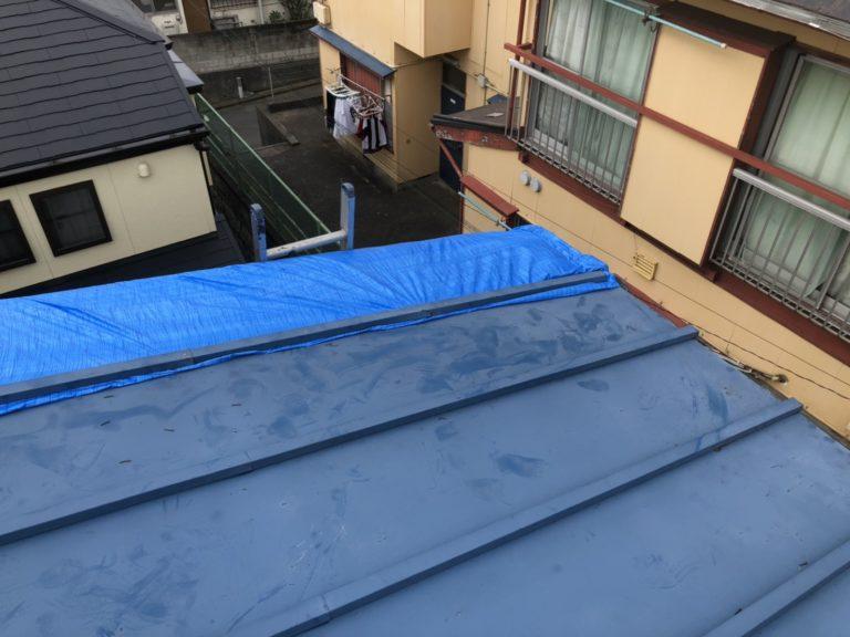 施工前屋根復旧工事【164】横浜市磯子区H様