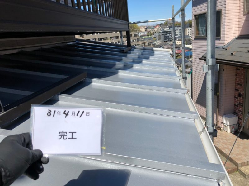 リフォーム施工中屋根復旧工事【164】横浜市磯子区H様