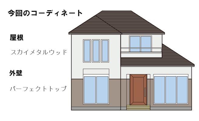 イラスト屋根重ね葺き工事、塗装工事、雨樋工事【162】横浜市都筑区N様