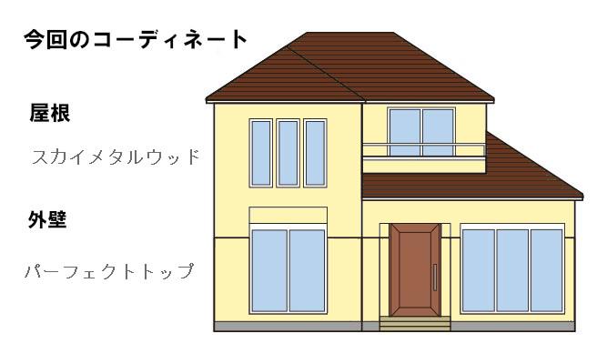 イラスト屋根重ね葺き工事、外壁塗装工事【181】横浜市磯子区O様