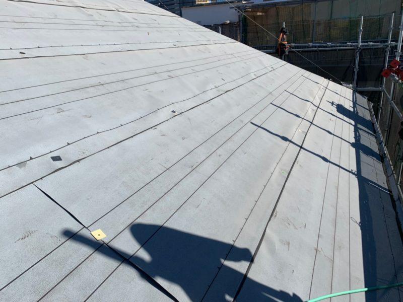 リフォーム施工中屋根重ね葺き工事、外壁塗装工事【182】川崎市幸区Y様