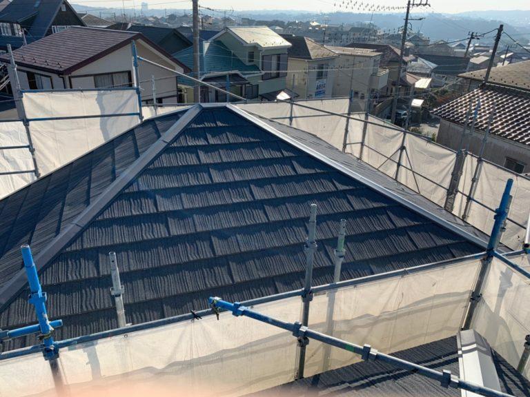 施工後屋根重ね葺き工事【184】横浜市港南区K様