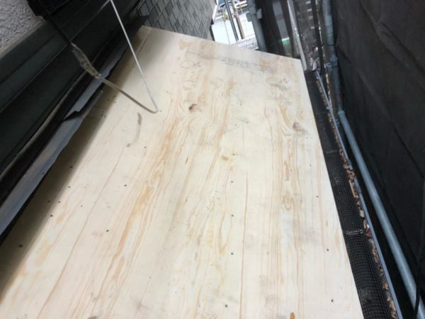 リフォーム施工中屋根葺き替え工事【183】横浜市中区K様