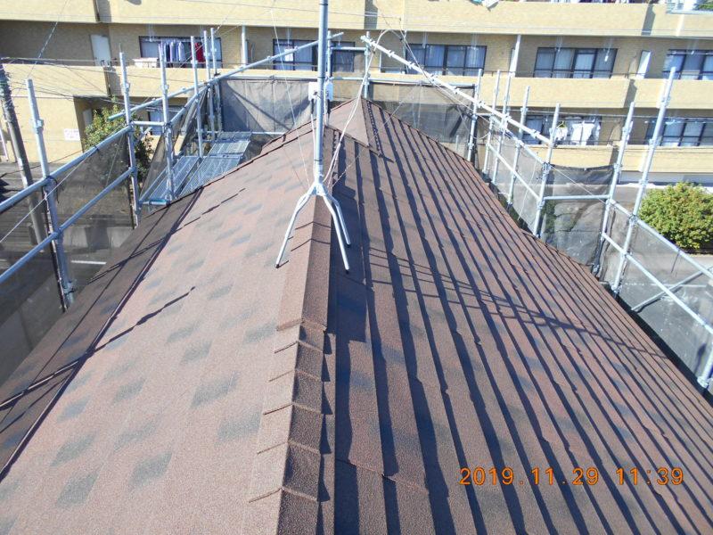 屋根重ね葺き工事、外壁塗装工事、ベランダ庇防水工事【177】横浜市青葉区E様