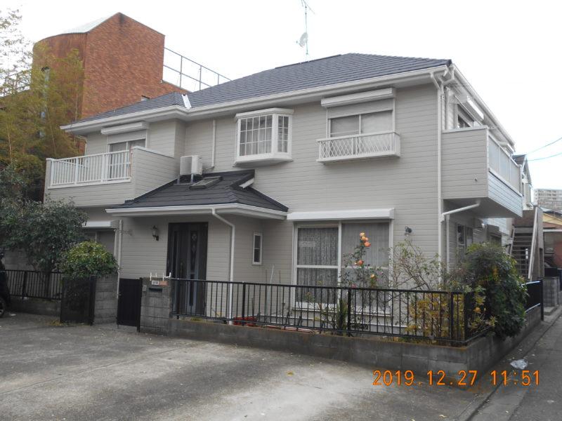 屋根重ね葺き工事、外壁塗装工事【182】川崎市幸区Y様