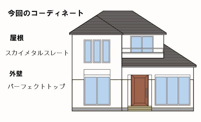 イラスト屋根重ね葺き工事、外壁塗装工事【182】川崎市幸区Y様