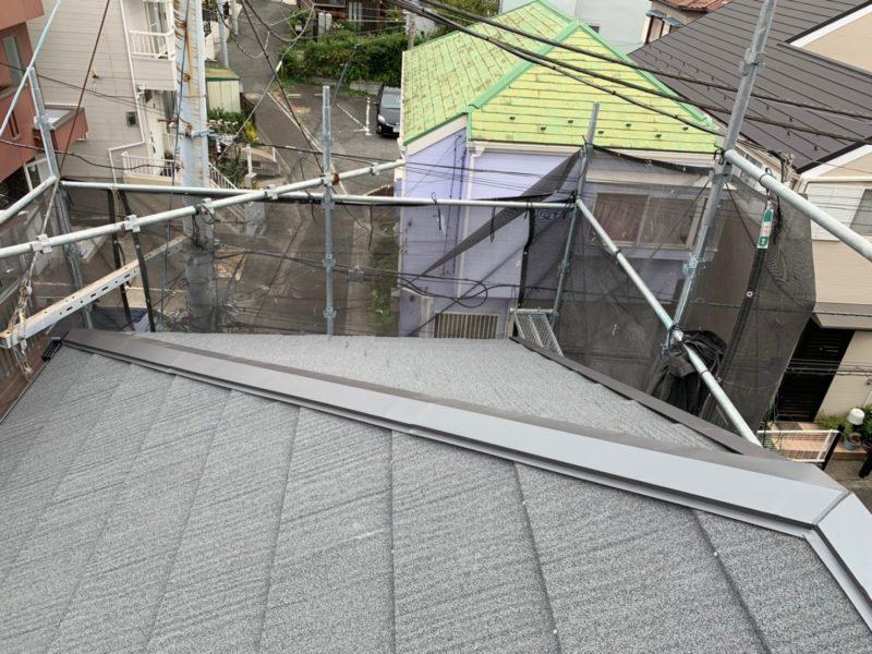 リフォーム施工中屋根重ね葺き工事【180】横浜市磯子区T様