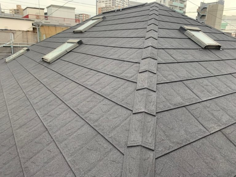 施工後屋根重ね葺き工事、外壁塗装工事【182】川崎市幸区Y様
