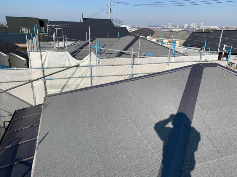 リフォーム施工中屋根重ね葺き工事【184】横浜市港南区K様