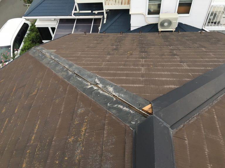 施工前屋根重ね葺き工事、外壁塗装工事【179】横浜市神奈川区S様