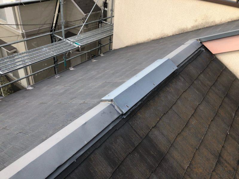 リフォーム施工中屋根重ね葺き工事、外壁塗装工事【191】川崎市麻生区K様