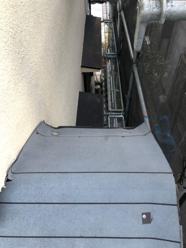 リフォーム施工中屋根重ね葺き工事【193】川崎市麻生区K様