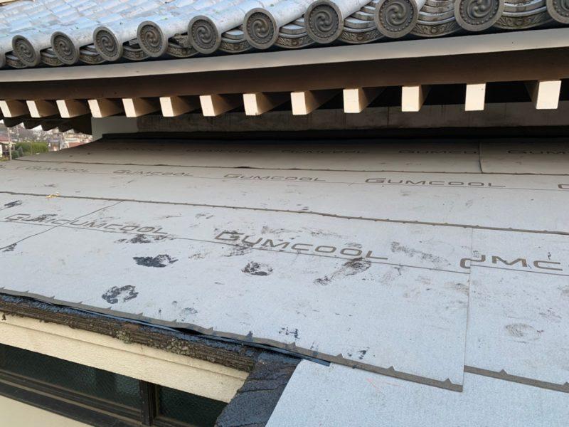 リフォーム施工中屋根重ね葺き工事【197】東京都府中市S様