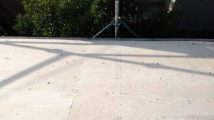 リフォーム施工中屋根重ね葺き工事、一部葺き替え工事【200】横須賀市
