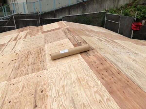 リフォーム施工中屋根葺き替え工事【215】相模原市