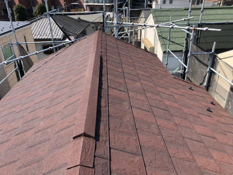 施工後屋根重ね葺き工事、外壁塗装工事、【206】川崎市宮前区