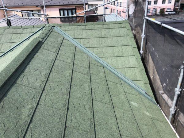 リフォーム施工中屋根重ね葺き工事【205】川崎市宮前区
