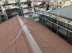 屋根重ね葺き工事、庇取付工事【208】横浜市青葉区