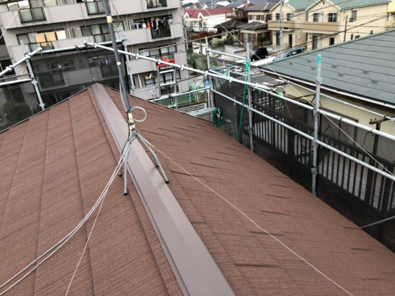 施工後屋根重ね葺き工事、庇取付工事【208】横浜市青葉区