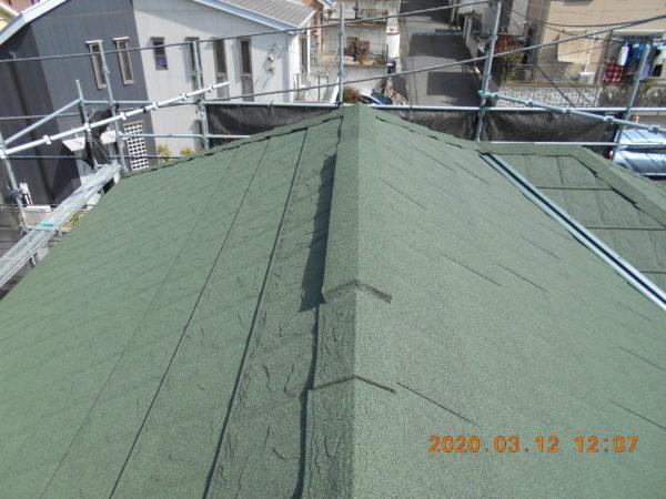 リフォーム施工中屋根重ね葺き【204】横浜市港南区