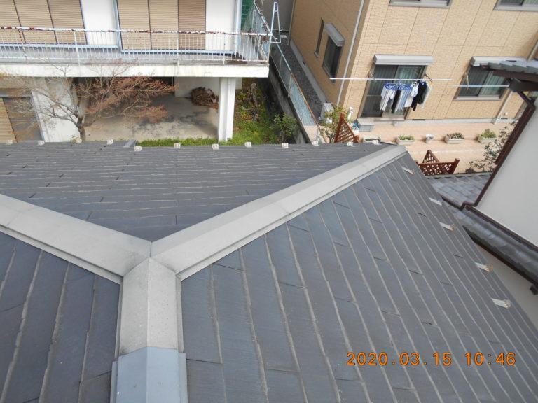 施工前屋根重ね葺き工事、外壁塗装工事【214】川崎市麻生区