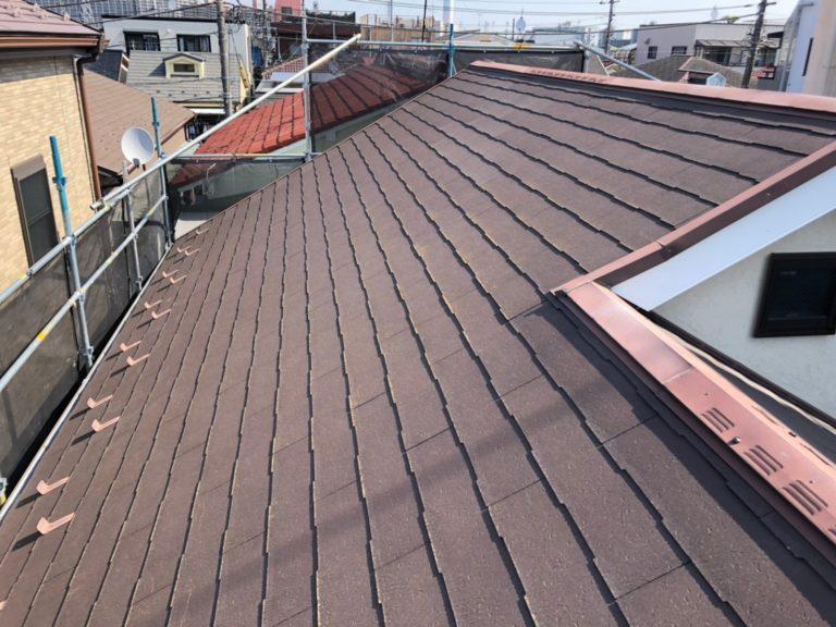 施工前屋根重ね葺き工事、外壁工事【211】川崎市幸区
