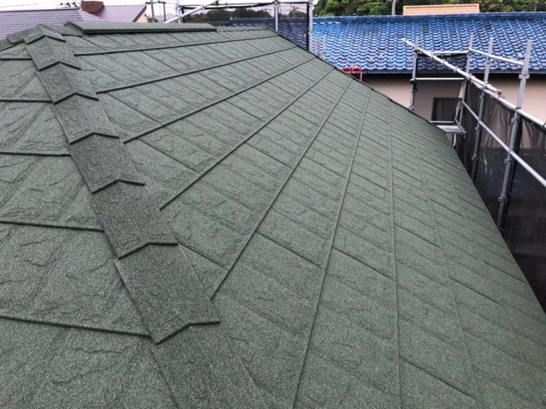 施工後屋根重ね葺き工事、外壁塗装工事【214】川崎市麻生区