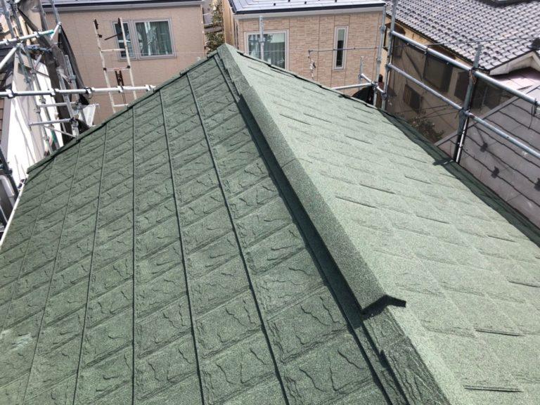 施工後屋根重ね葺き工事【205】川崎市宮前区