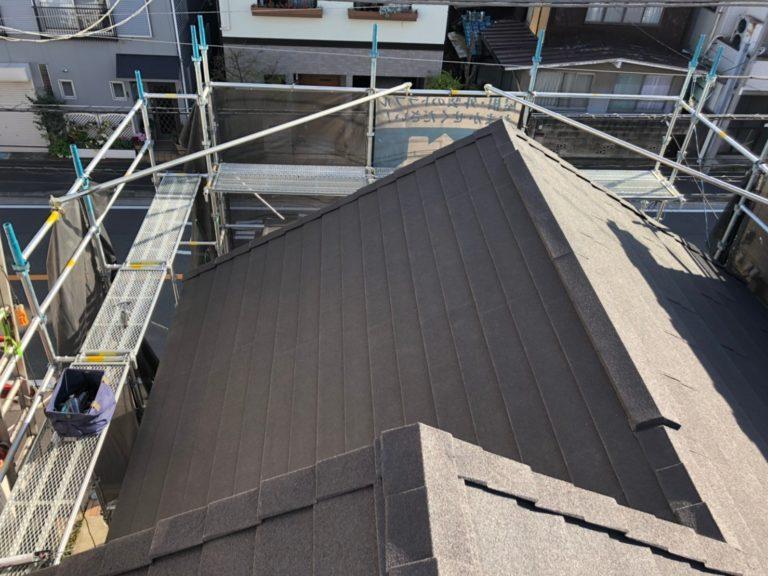 施工後屋根重ね葺き工事、外壁工事【211】川崎市幸区