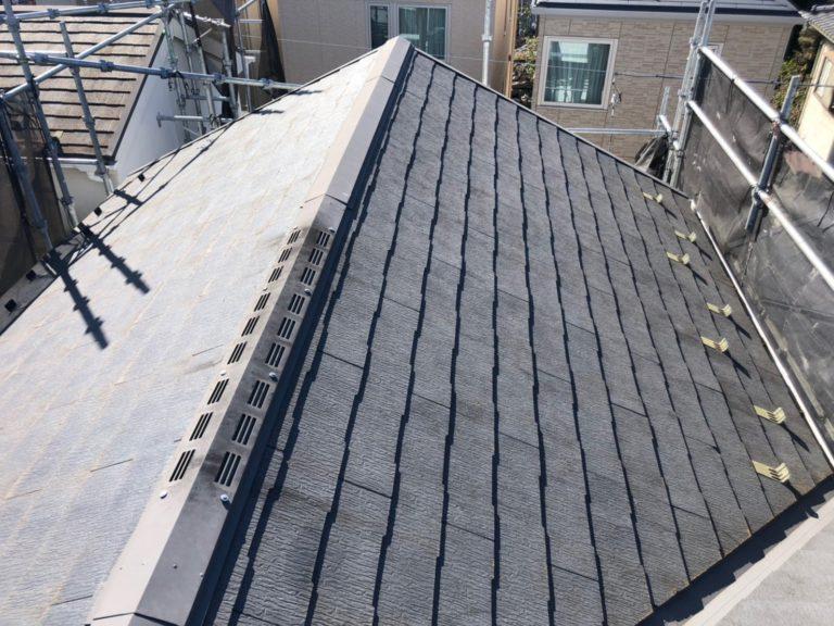 施工前屋根重ね葺き工事、外壁塗装工事、【206】川崎市宮前区