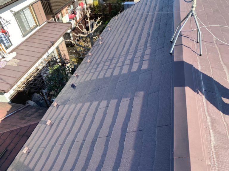 施工前屋根重ね葺き工事、庇取付工事【208】横浜市青葉区