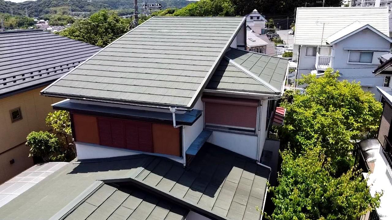 施工後屋根重ね葺き工事、一部葺き替え工事【200】横須賀市